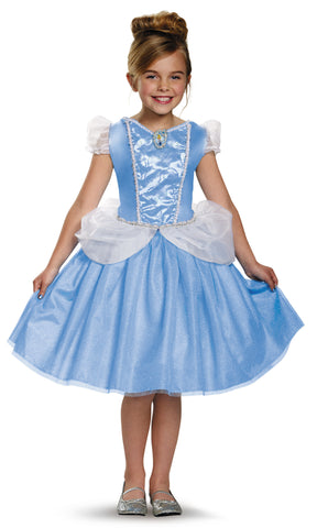 Girls Disney Princess Classic Cinderella Costume - HalloweenCostumes4U.com - Kids Costumes
