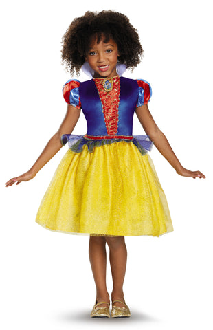 Girls Disney Princess Classic Snow White Costume - HalloweenCostumes4U.com - Kids Costumes
