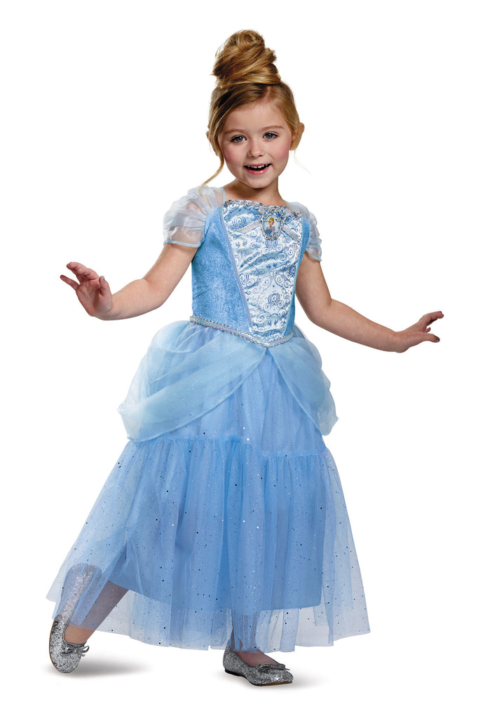 Girls Disney Princess Deluxe Cinderella Costume - HalloweenCostumes4U.com - Kids Costumes