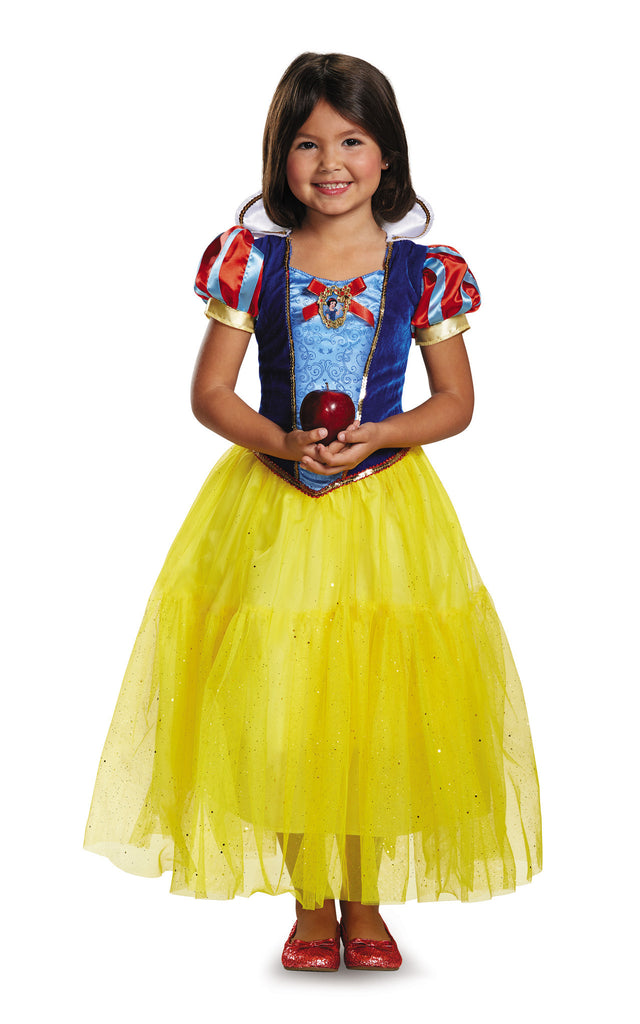 Girls Disney Princess Deluxe Snow White Costume - HalloweenCostumes4U.com - Kids Costumes