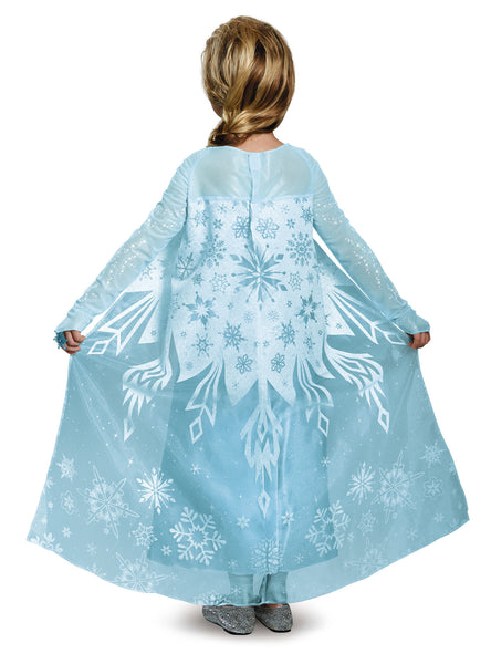 Girls Disney Princess Deluxe Sparkle Elsa Costume - HalloweenCostumes4U.com - Kids Costumes - 2