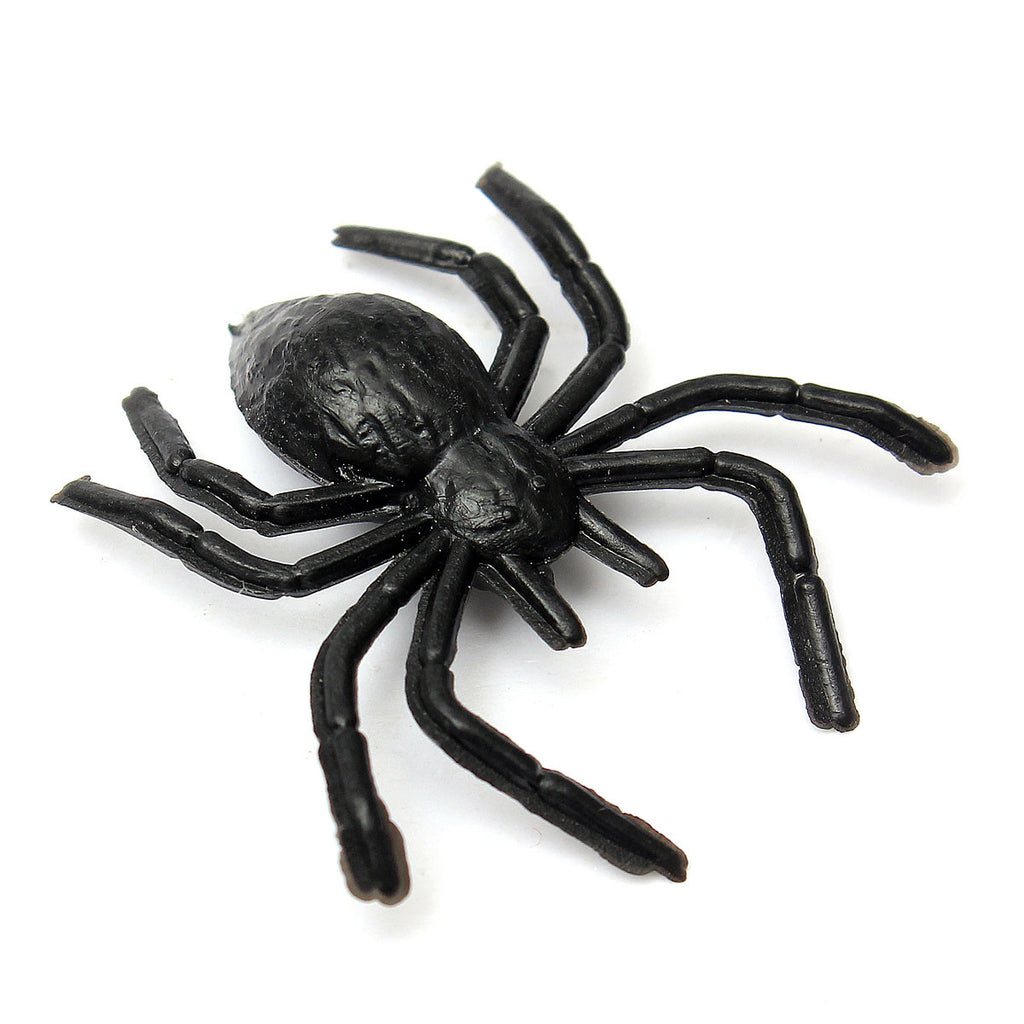 Rubber Scary Mini-Spiders - 40 Pack