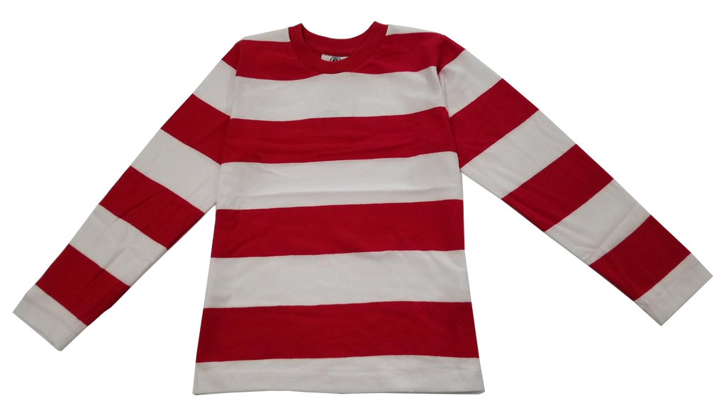 Infants/Toddlers/Kids Red & White Striped T-Shirt Costume