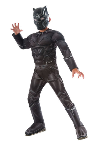 Boys Deluxe Black Panther Costume - Marvel