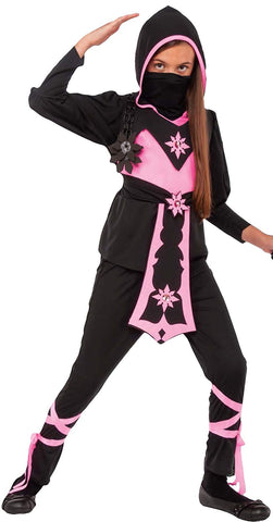 Girls Pink Crystal Ninja Costume