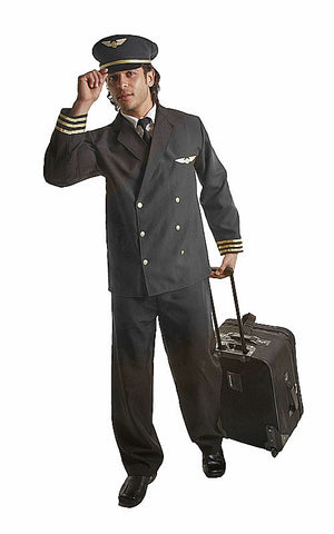 Adults Pilot Costume - HalloweenCostumes4U.com - Adult Costumes