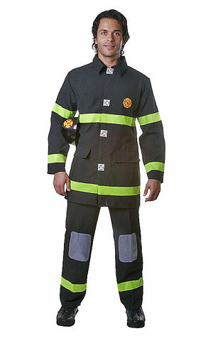 Mens Black Fire Fighter Costume - HalloweenCostumes4U.com - Adult Costumes