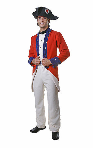 Mens Colonial Soldier Costume - HalloweenCostumes4U.com - Adult Costumes