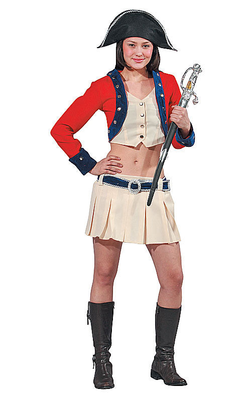 Womens Colonial Soldier Costume - HalloweenCostumes4U.com - Adult Costumes