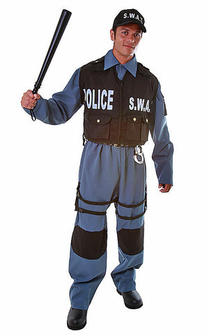 Mens SWAT Police Officer Costume - HalloweenCostumes4U.com - Adult Costumes