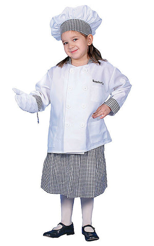 Girls Deluxe Chef Costume - HalloweenCostumes4U.com - Kids Costumes