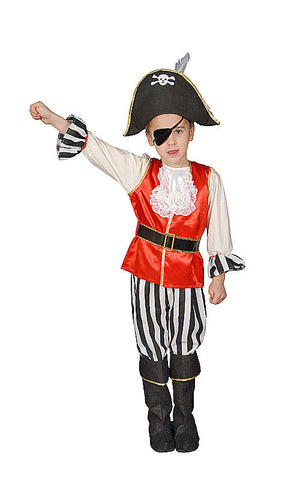 Boys Deluxe Pirate Costume - HalloweenCostumes4U.com - Kids Costumes