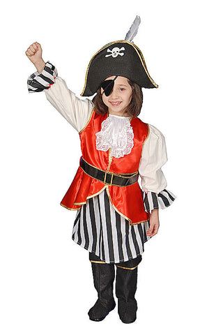Girls Deluxe Pirate Costume - HalloweenCostumes4U.com - Kids Costumes