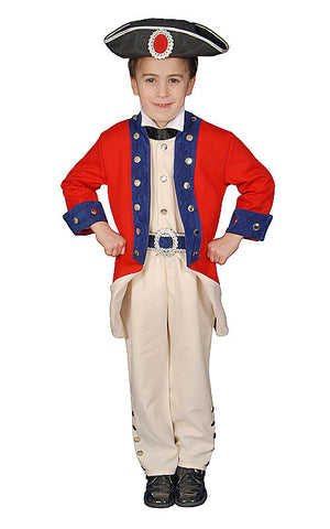 Boys Colonial Soldier Costume - HalloweenCostumes4U.com - Kids Costumes