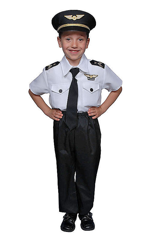 Kids/Toddlers Pilot Costume - HalloweenCostumes4U.com - Kids Costumes