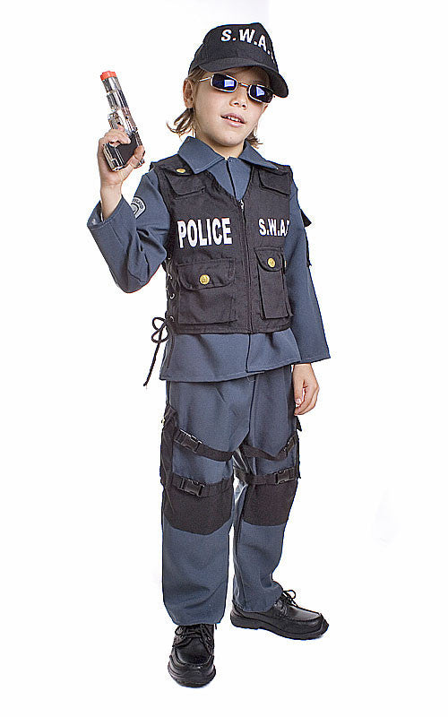 Kids/Toddlers SWAT Police Officer Costume - HalloweenCostumes4U.com - Kids Costumes