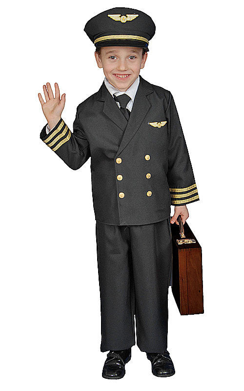 Kids/Toddlers Deluxe Pilot Costume - HalloweenCostumes4U.com - Kids Costumes