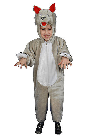 Boys Plush Wolf Costume - HalloweenCostumes4U.com - Kids Costumes