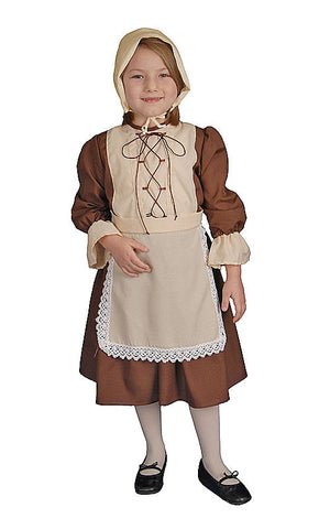 Girls Colonial Pilgrim Costume - HalloweenCostumes4U.com - Kids Costumes