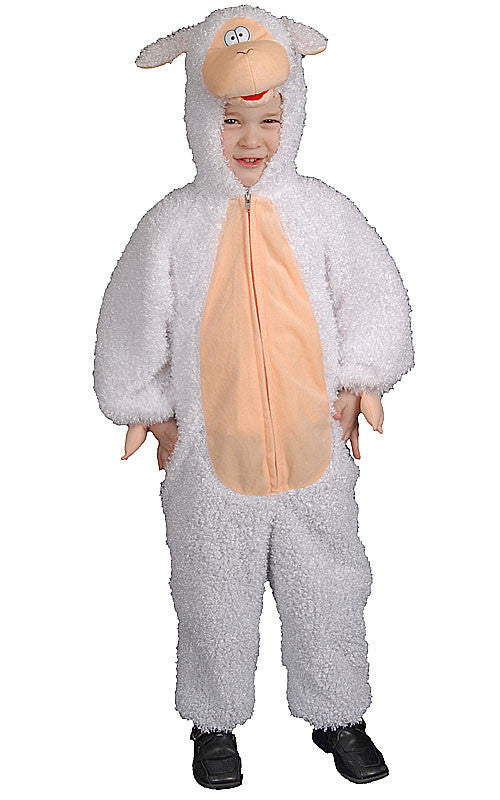 Kids Plush Lamb Costume - HalloweenCostumes4U.com - Kids Costumes