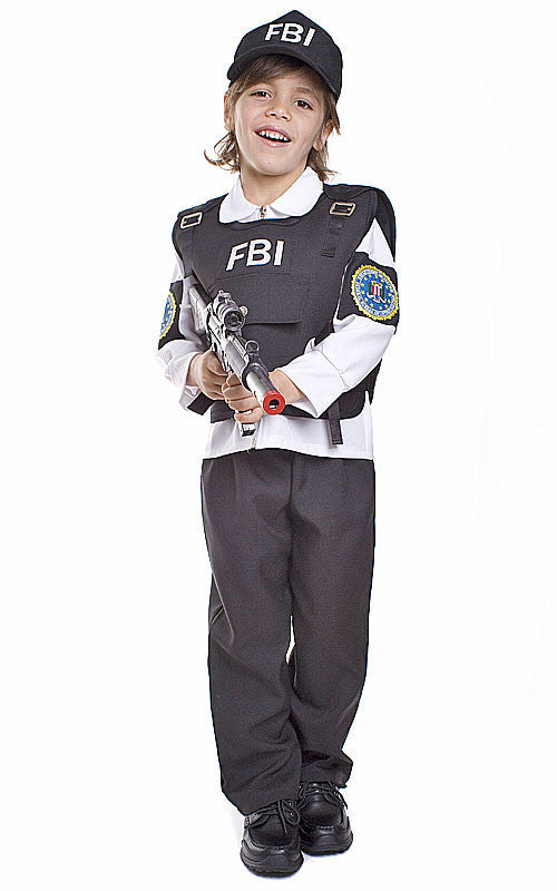 Kids/Toddlers FBI Agent Costume - HalloweenCostumes4U.com - Kids Costumes