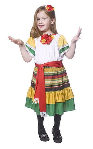 Girls Mexican Dancer Costume - HalloweenCostumes4U.com - Kids Costumes