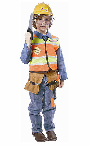 Boys Construction Worker Costume - HalloweenCostumes4U.com - Kids Costumes