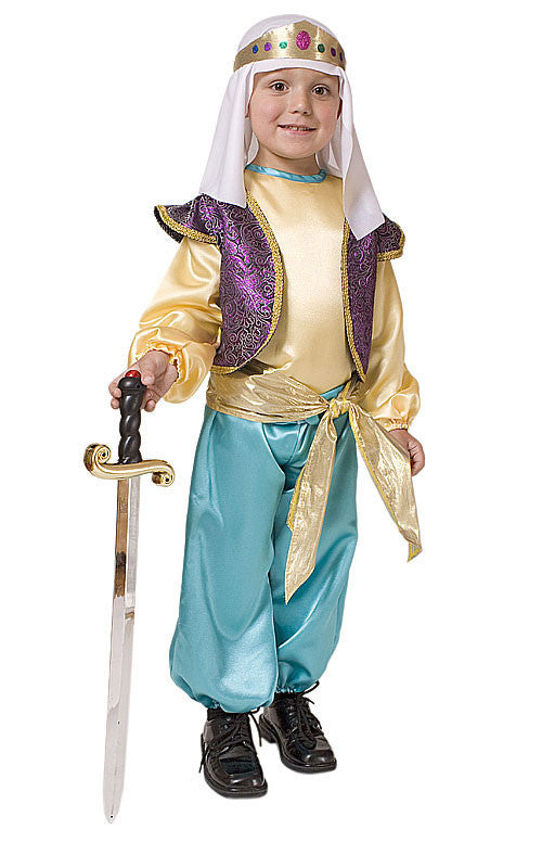 Boys Arabian Sultan Costume - HalloweenCostumes4U.com - Kids Costumes