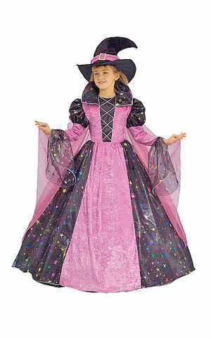Girls Deluxe Witch Costume - HalloweenCostumes4U.com - Kids Costumes