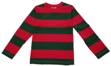 Infants/Toddlers/Kids Red & Green Nightmare on the Street Striped T-Shirt Costume