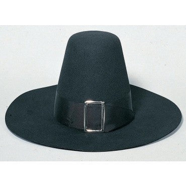Black Deluxe Puritan/Pilgrim Hat - HalloweenCostumes4U.com - Accessories
