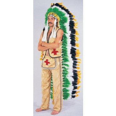 Double Trailer Native American Indian Headdress - HalloweenCostumes4U.com - Accessories