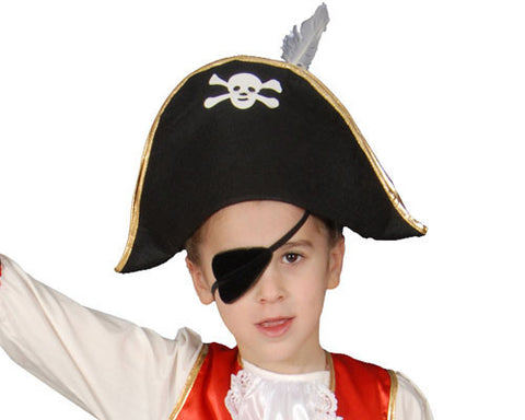 Black Pirate Hat - HalloweenCostumes4U.com - Accessories