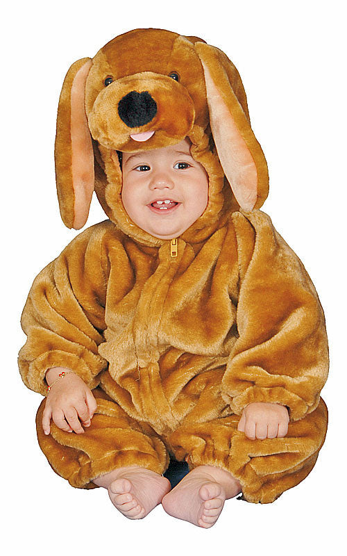 Infants Brown Plush Puppy Costume - HalloweenCostumes4U.com - Infant & Toddler Costumes