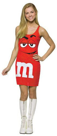 Girls Red M&Ms Tank Dress - HalloweenCostumes4U.com - Adult Costumes