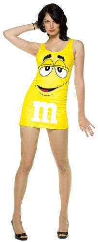 Womens Yellow M&Ms Tank Dress - HalloweenCostumes4U.com - Adult Costumes