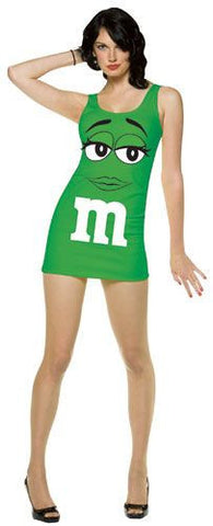 Adults Green M&Ms Tank Dress - HalloweenCostumes4U.com - Adult Costumes