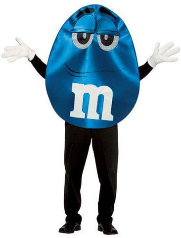 Adults Blue Deluxe M&Ms Costume - HalloweenCostumes4U.com - Adult Costumes