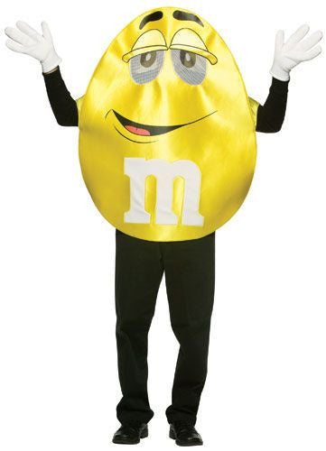 Adults Deluxe Yellow M&Ms Costume - HalloweenCostumes4U.com - Adult Costumes