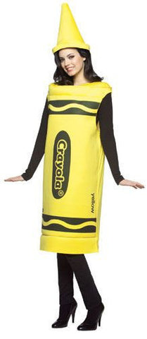 Adults Yellow Crayola Crayon Costume - HalloweenCostumes4U.com - Adult Costumes