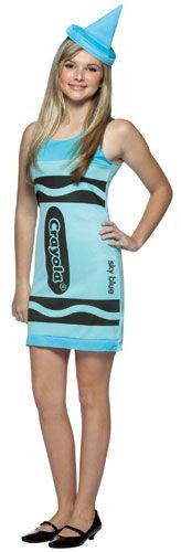 Teens Sky Blue Crayola Crayon Tank Dress - HalloweenCostumes4U.com - Adult Costumes