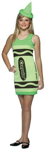 Teens Screamin' Green Crayola Crayon Tank Dress - HalloweenCostumes4U.com - Adult Costumes
