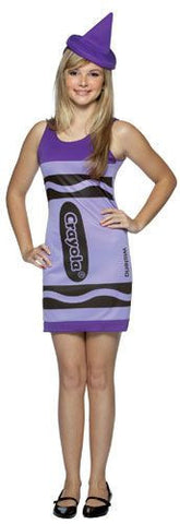 Girls Purple Crayola Crayon Tank Dress - HalloweenCostumes4U.com - Adult Costumes