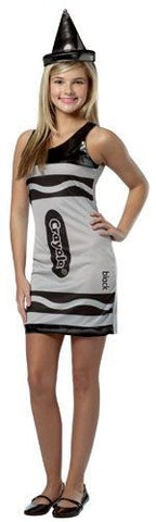 Girls Black Crayola Crayon Tank Dress - HalloweenCostumes4U.com - Adult Costumes