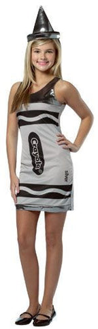 Girls Silver Crayola Crayon Tank Dress - HalloweenCostumes4U.com - Adult Costumes