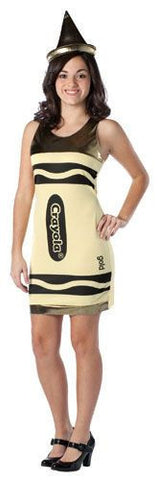Girls Gold Crayola Crayon Tank Dress - HalloweenCostumes4U.com - Adult Costumes