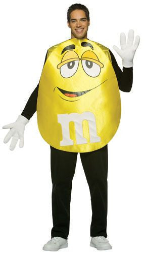 Adults Yellow M&Ms Costume - HalloweenCostumes4U.com - Adult Costumes