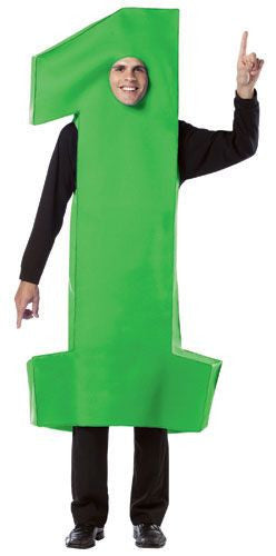 Adults Number 1 Costume - Various Colors - HalloweenCostumes4U.com - Adult Costumes - 4