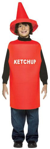 Kids Ketchup Bottle Costume - HalloweenCostumes4U.com - Kids Costumes