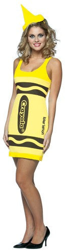 Womens Laser Lemon Crayola Crayon Tank Dress - HalloweenCostumes4U.com - Adult Costumes